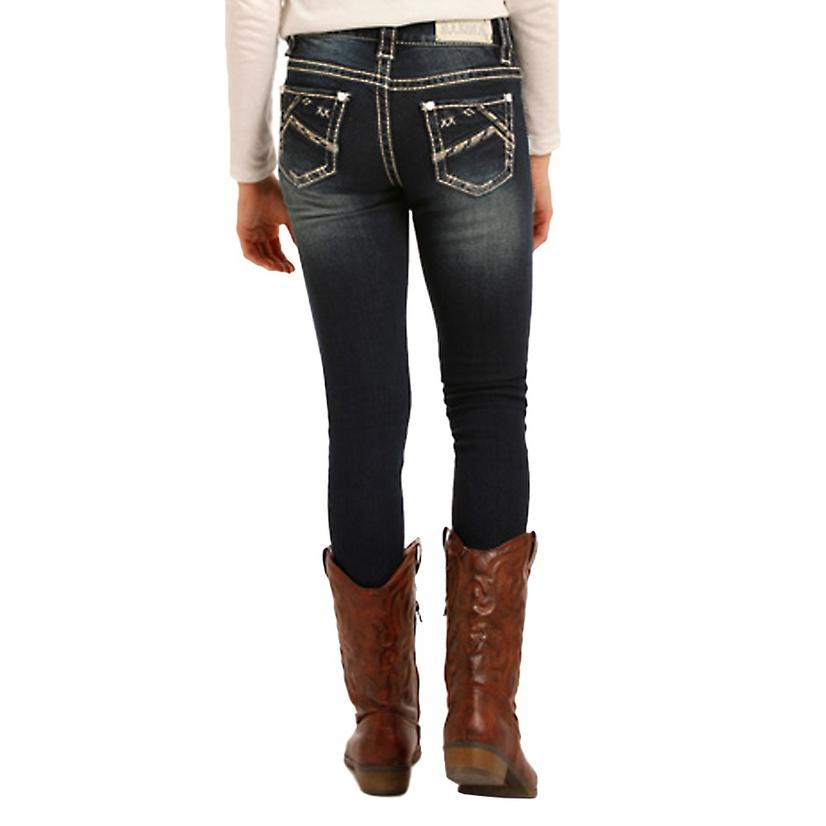 Rock & Roll Cowgirl Girls Dark Skinny Jeans