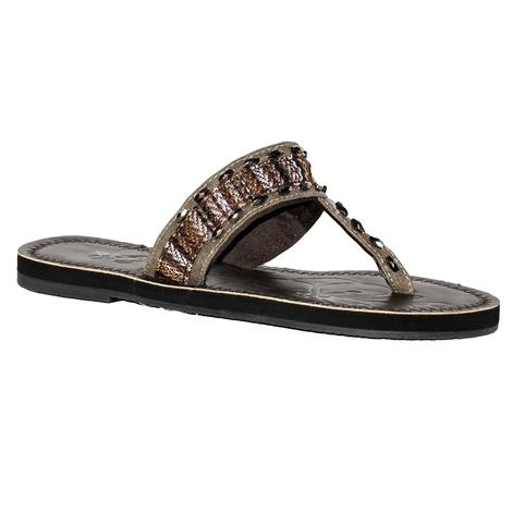 Roper Womens Debbie Brown on Brown Sandal