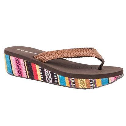 Roper Womens Floral Bright Serape Wedge Sandal