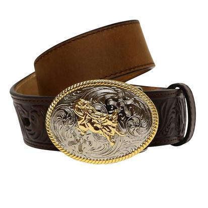 3D Boys 1 1/4in Dark Brown Western Belt