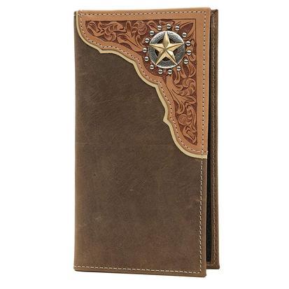 Tony Lama Brown Western Rodeo Wallet