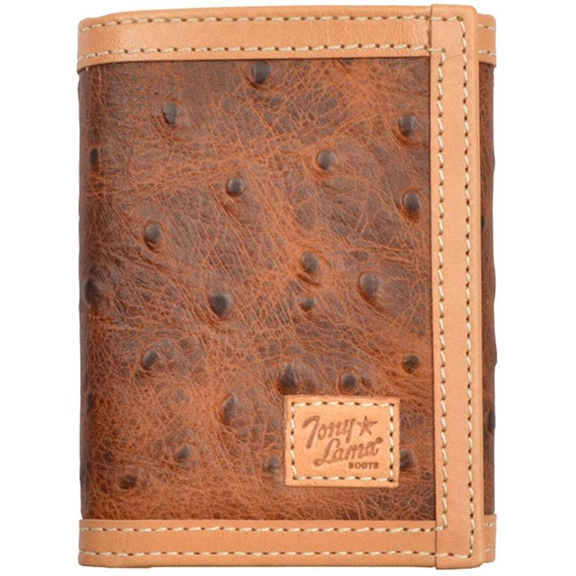 Tony Lama Brown Trifold Wallet