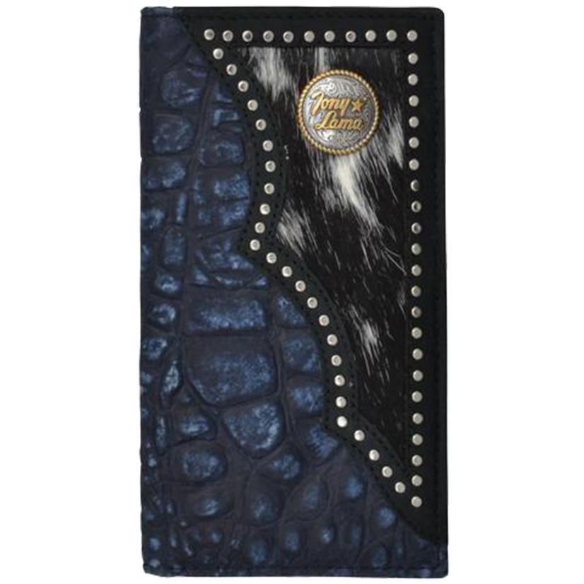 Tony Lama Blue Western Rodeo Wallet