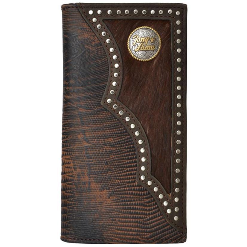 Tony Lama Dark Brown Leather Western Wallet