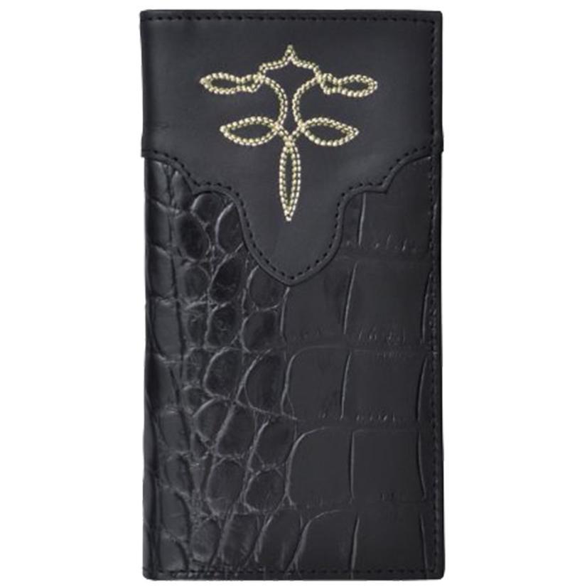 Tony Lama Black Leather Rodeo Western Wallet