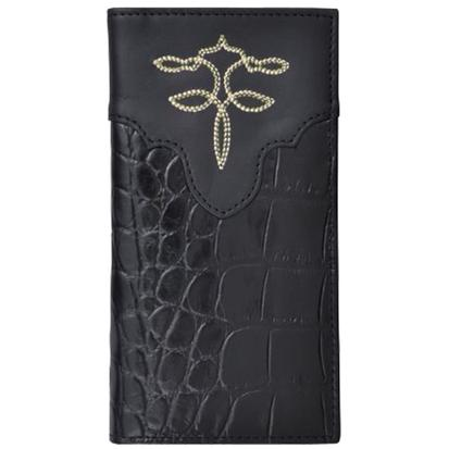 Tony Lama Black Leather Rodeo Western Wallet