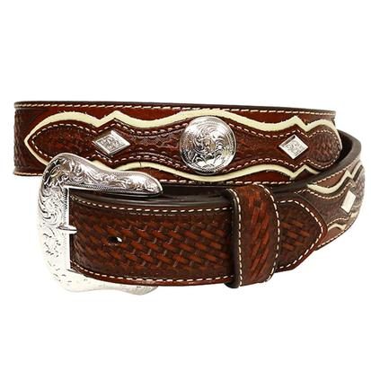 Nocona Pro Series Mens Two Tone Basket Weave Belt