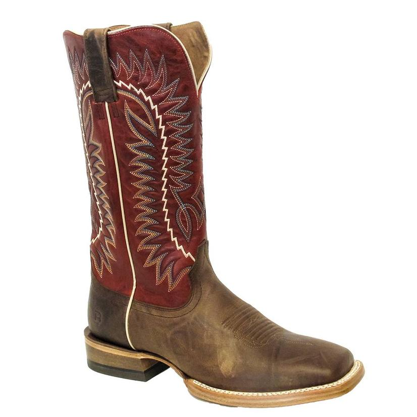 Ariat Mens Relentless Elite Dust Devil Tan True Red Boots