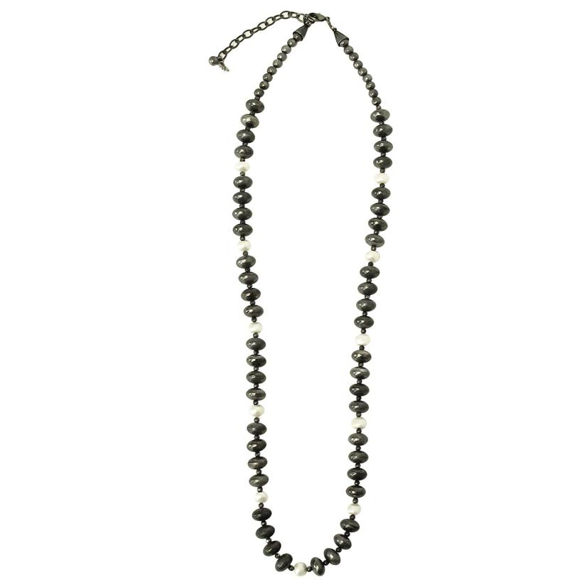 Silver with Pearl Necklace