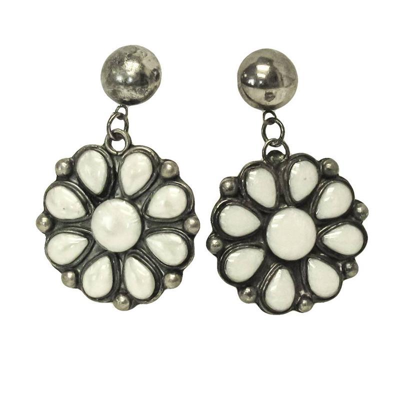 White Squash Earrings