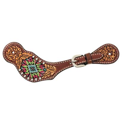 Rafter T Beaded Inlay Dove Wing Spur Straps