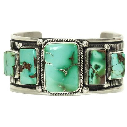 Turquoise and Co Five Stone Silver Cuff