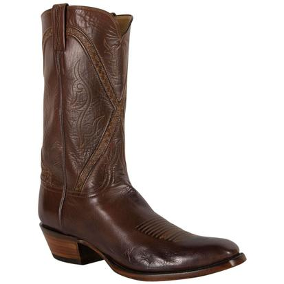 Lucchese Classic Mens Handcrafted Whiskey Burn Buffalo Roper Boot
