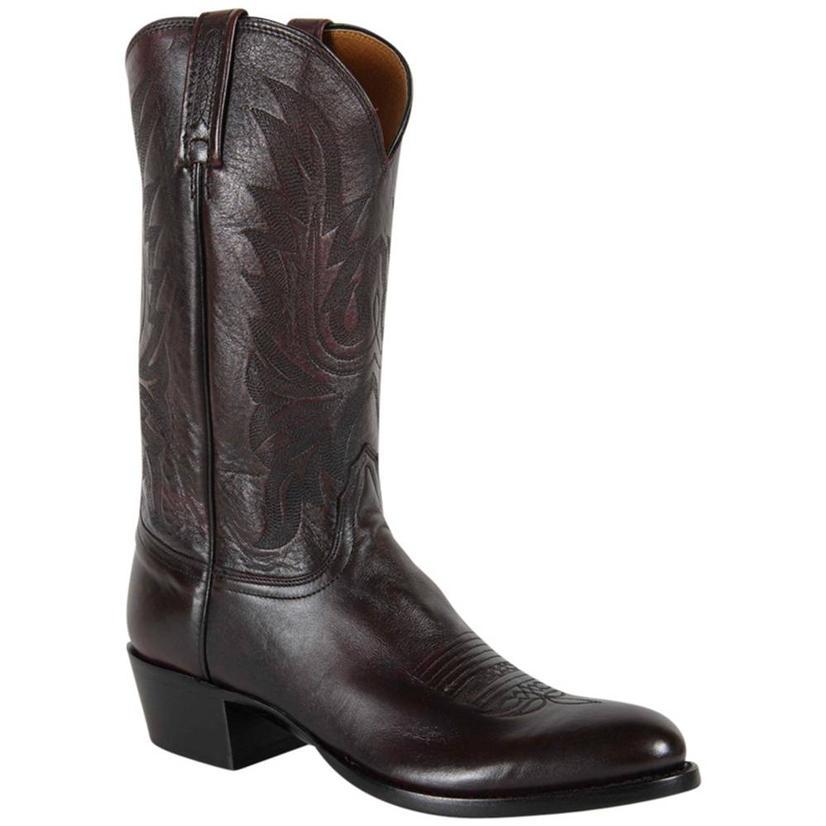 Lucchese Mens Carson Black Cherry Lonestar Calf Boot
