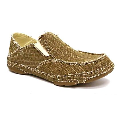 Tony Lama Mens 3R Casual Canvas Slip-On Shoes