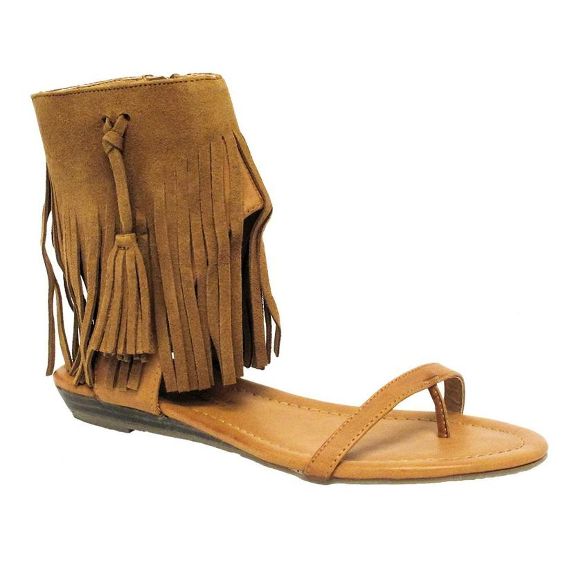 Very Volatile Womens LEX Fringe Ankle Cuff Sandal