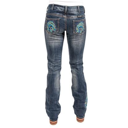 Cowgirl Tuff Womens Sweet Chiefs Embroidered Headdress Jeans