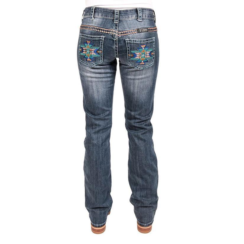 Cowgirl Tuff Womens Bold Aztec Western Denim Jeans