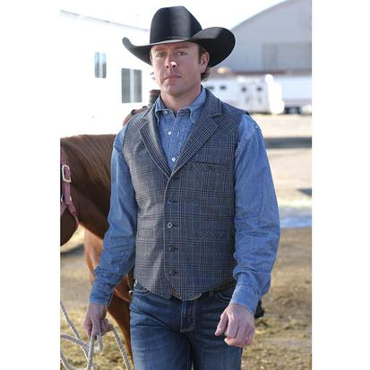 Miller Ranch Mens Western Plaid Vest