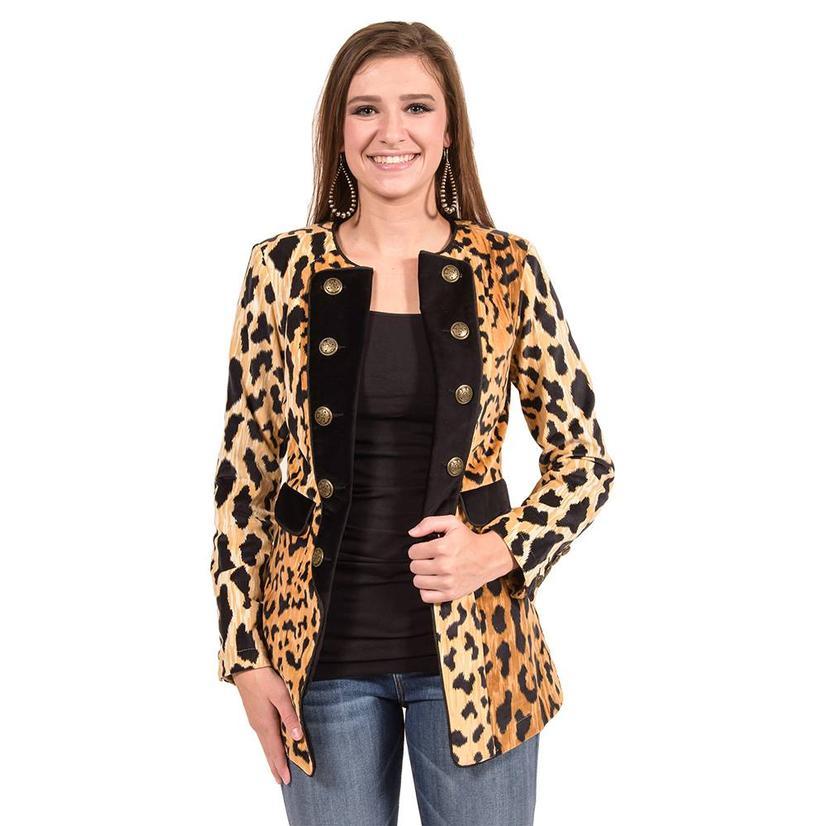 Tasha Polizzi Womens Diva Leopard Jacket