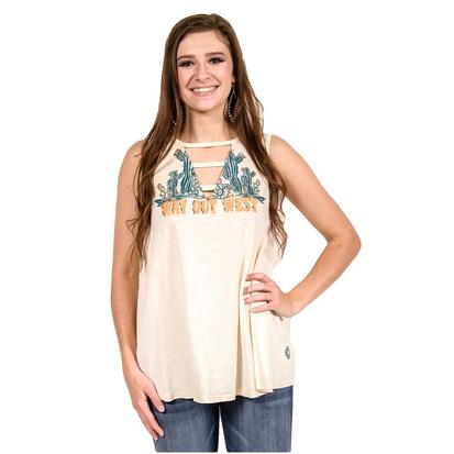 Double D Ranch Womens Way Out West Tank