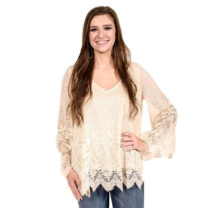 Ivory Womens Long Sleeve Top
