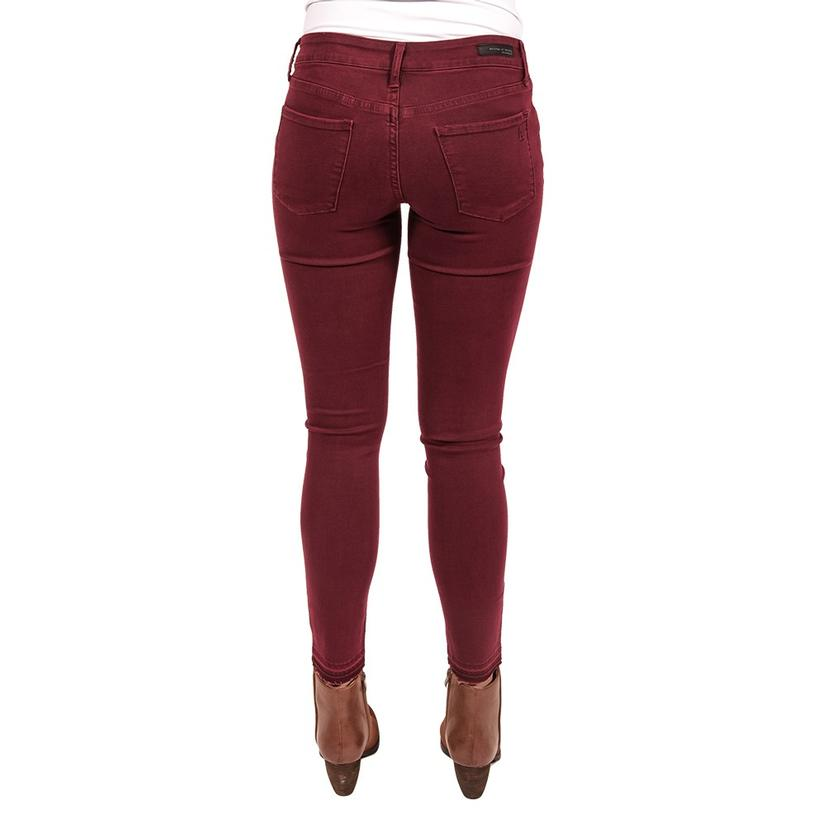 Articles Of Society Womens Sarah Released Hem Maroon Pants