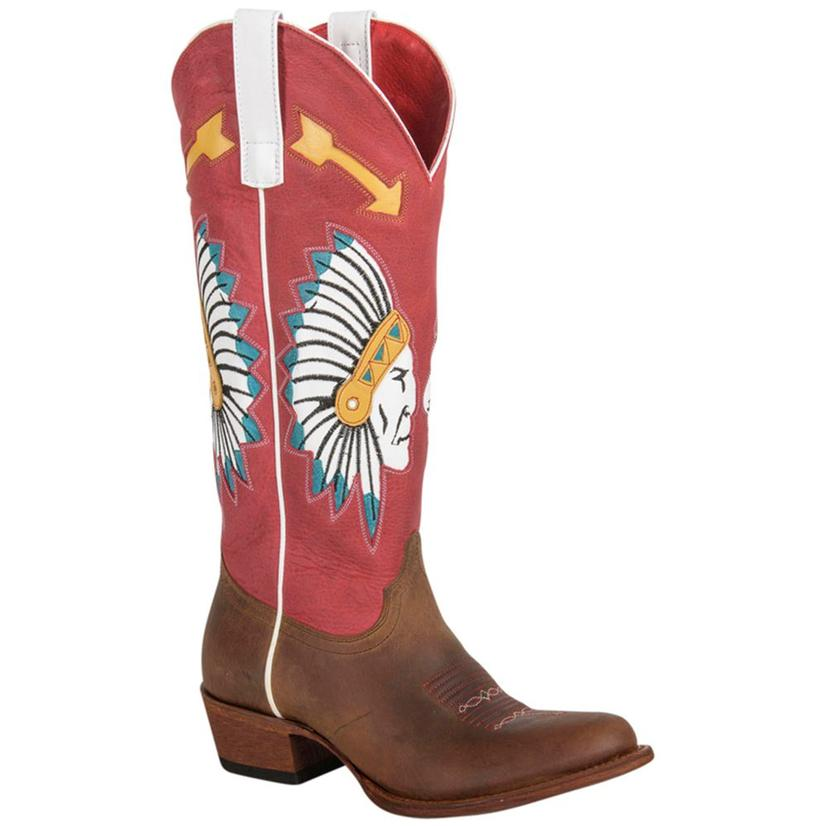 Macie Bean Womens Red And Black Chief So Cute Boots