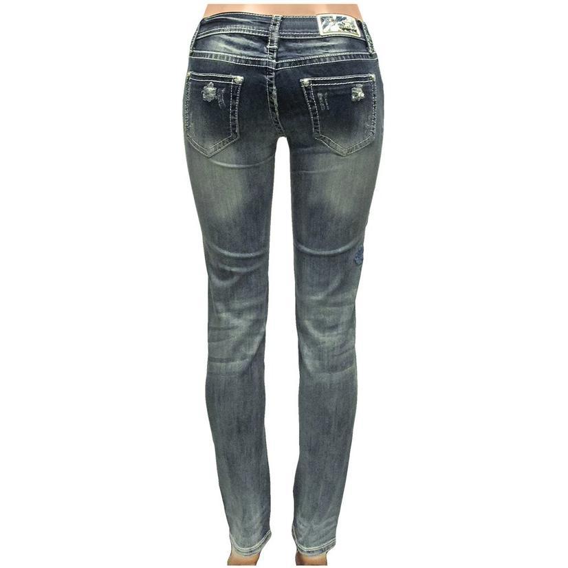 Grace In La Womens Neautal Embroidery Skinny Jeans
