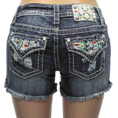 Miss Me Womens Sundazed Cutoff Denim Shorts