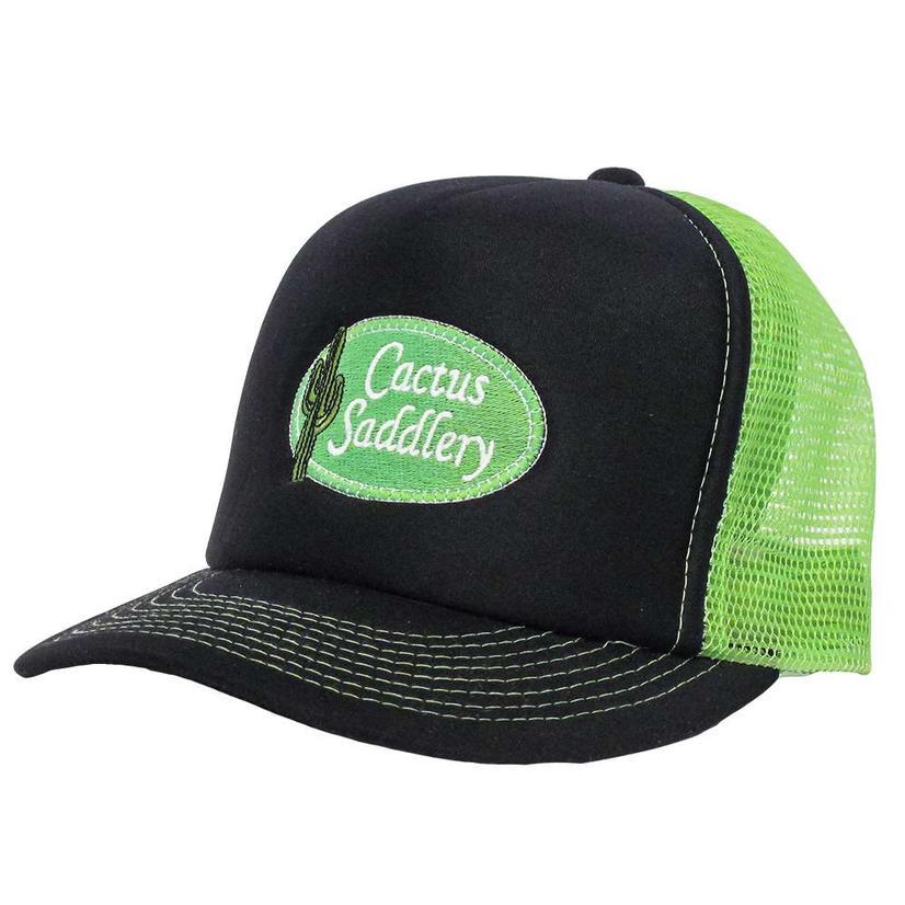 Cactus Saddlery Trucker Cap BLACK/LIME