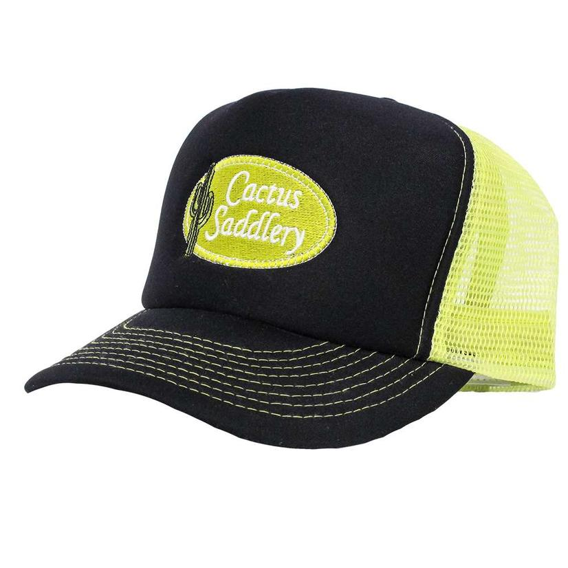 Cactus Saddlery Trucker Cap BLACK/N_YELL