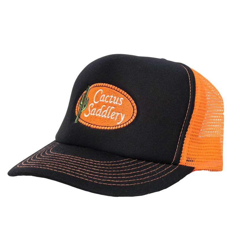 Cactus Saddlery Trucker Cap BLACK/ORANGE