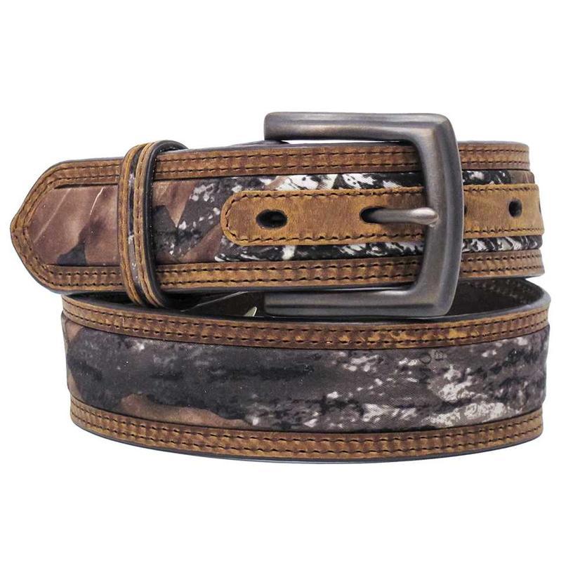 M & F Western Mens Mossy Oak Inlay Belt