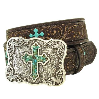 Nocona Girls Brown Leather Belt