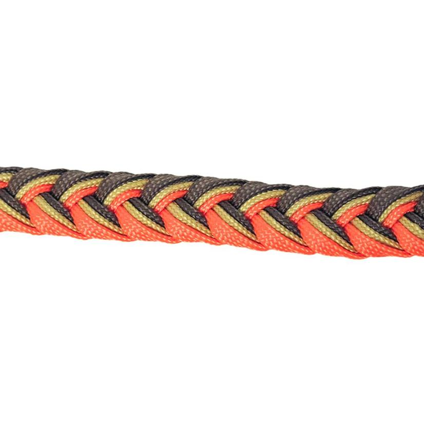 Martha Josey Knot Reins CHOC/TAN/OR
