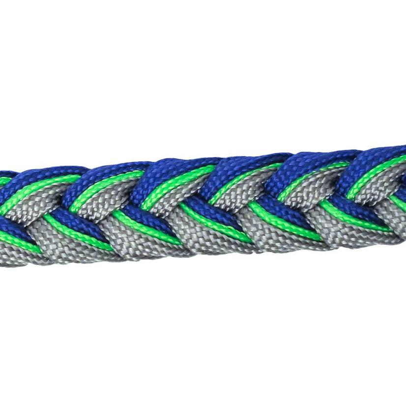 Martha Josey Knot Reins RB/LIME/GREY