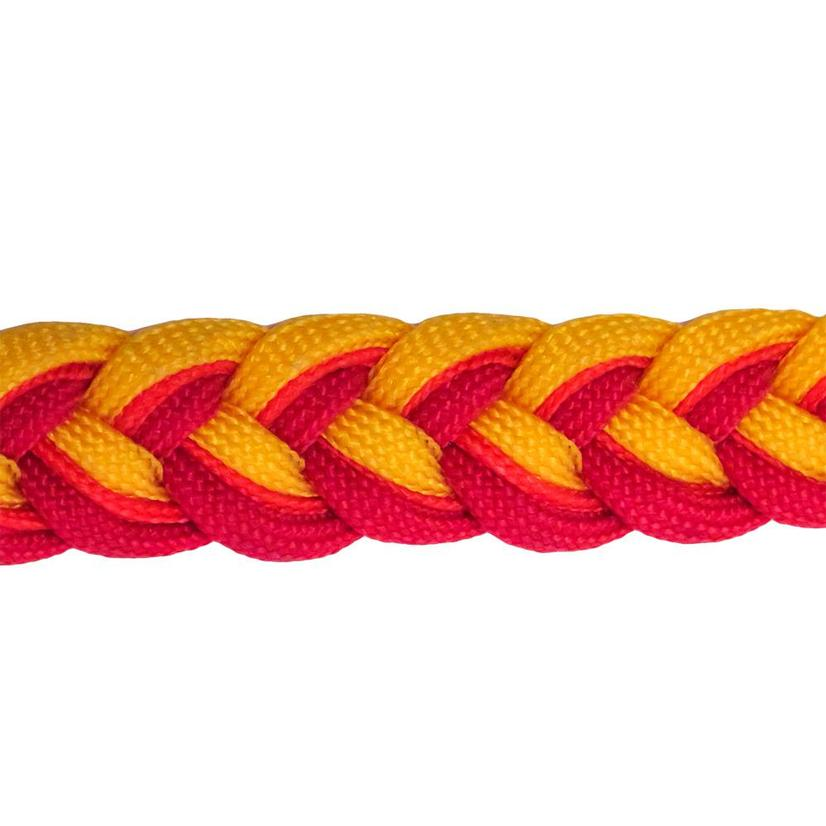 Martha Josey Knot Reins RED/OR/YELL