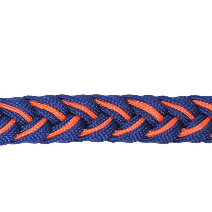 Martha Josey Knot Reins ROYAL/ORANGE