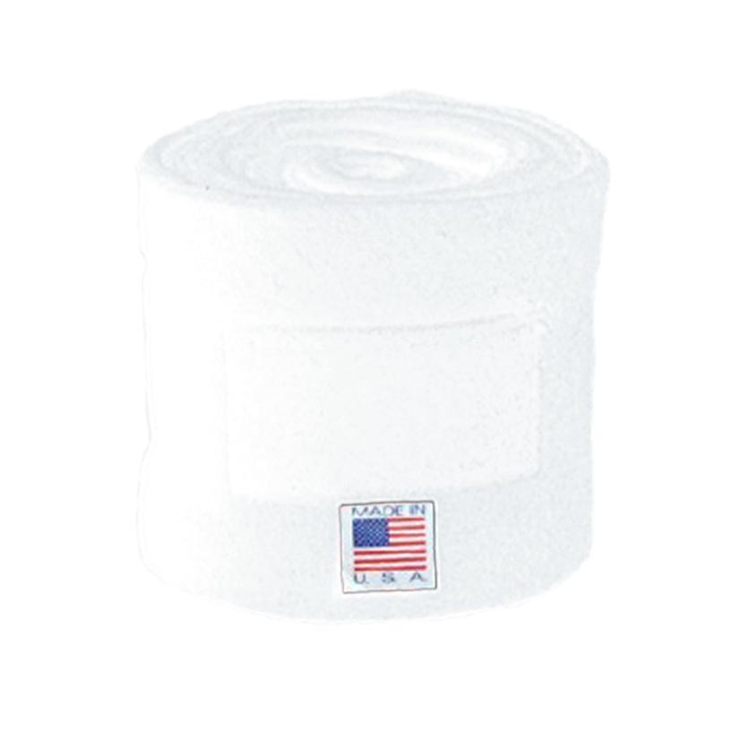 Keeneland Polo Wraps WHITE