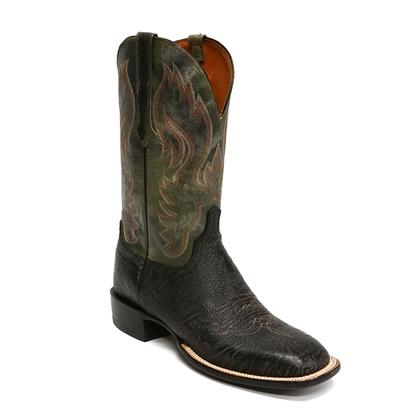 Lucchese Mens Black Bison Boots