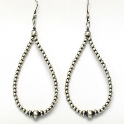 STT Small Navajo Pearl Teardrop Earrings