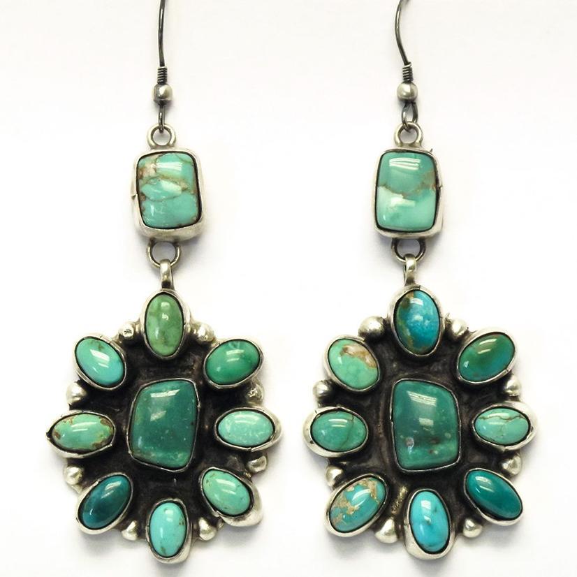 STT The Blaines Turquoise Cluster Earrings