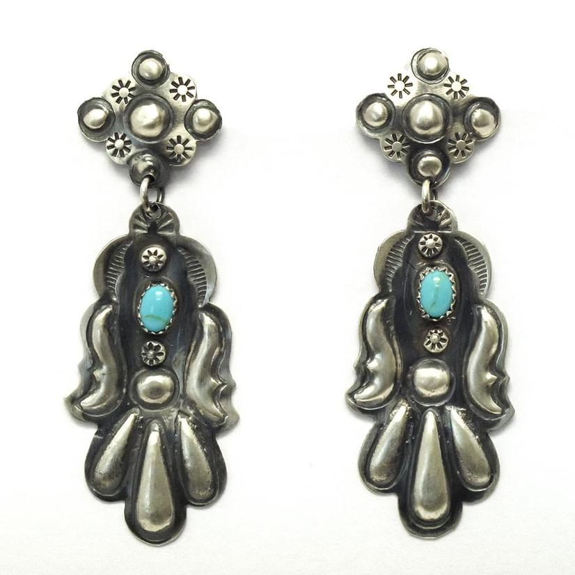 STT The Westons Navajo Silver Turquoise Earrings