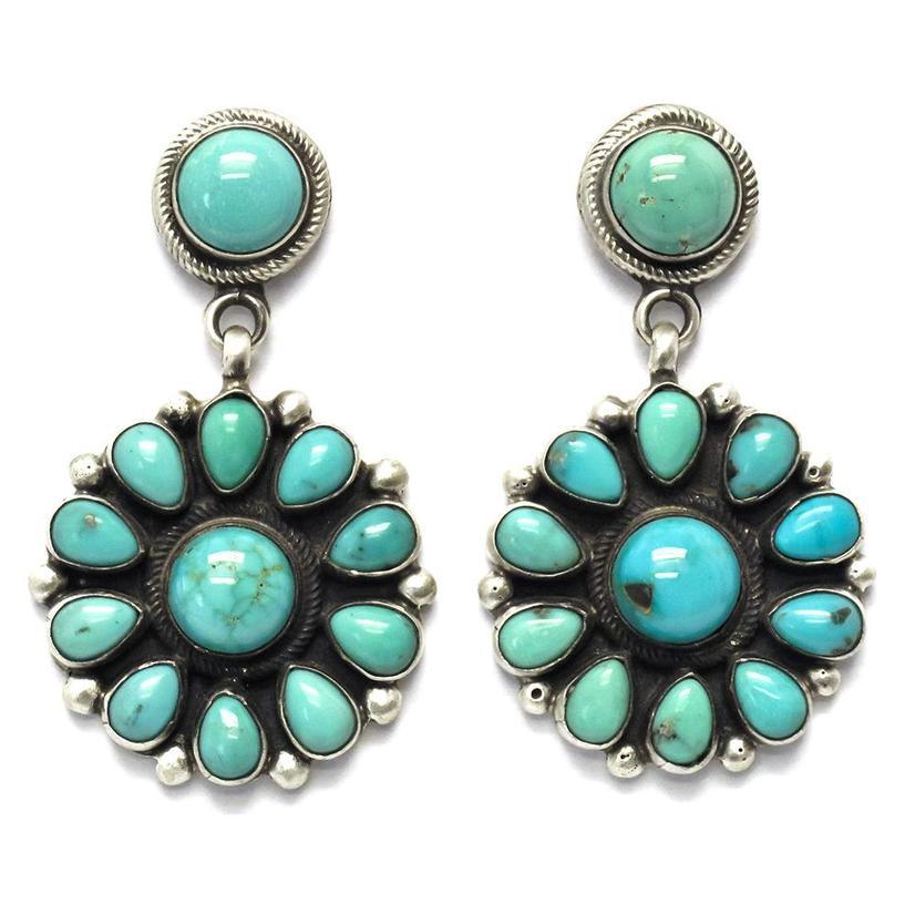 Stt Arizonas Turquoise Flower Earrings