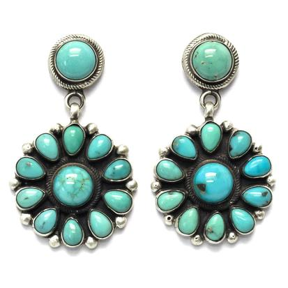 STT Arizonas Turquoise Flower Earrings