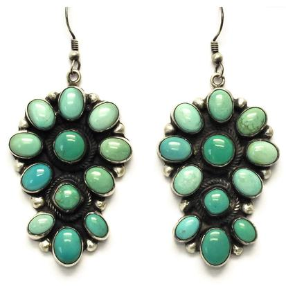 STT Turquoise Cluster Earrings