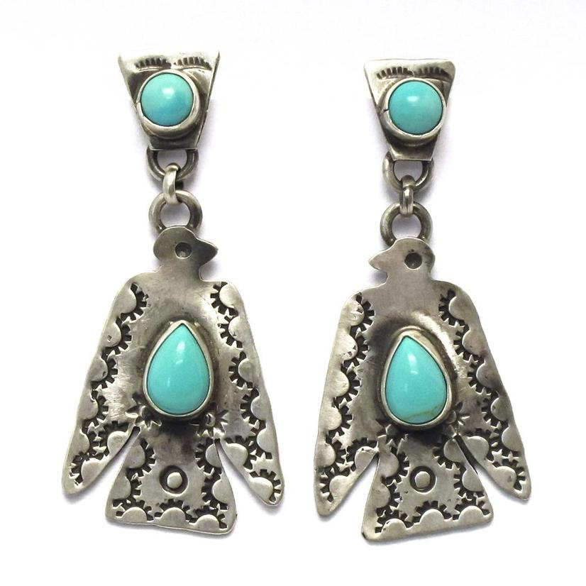 STT Thunderbird Medium Turquoise Earrings