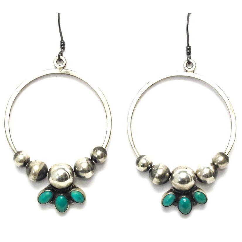 STT The Ashtons Hoop Turquoise Earrings