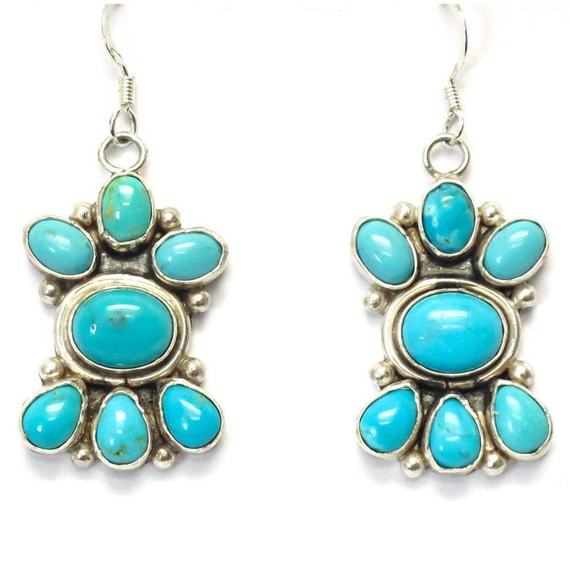 STT The Bailys Turquoise Cluster Earrings